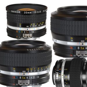 New Manual Focus Nikkor AIS Lenses