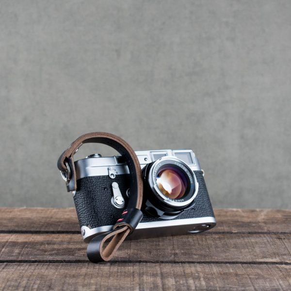 oxford-black-riveted - Hawkesmill-Black-Oxford-Leather-Camera-Wrist-Strap-For-Nikon-Leica-Sony-Fujifilm