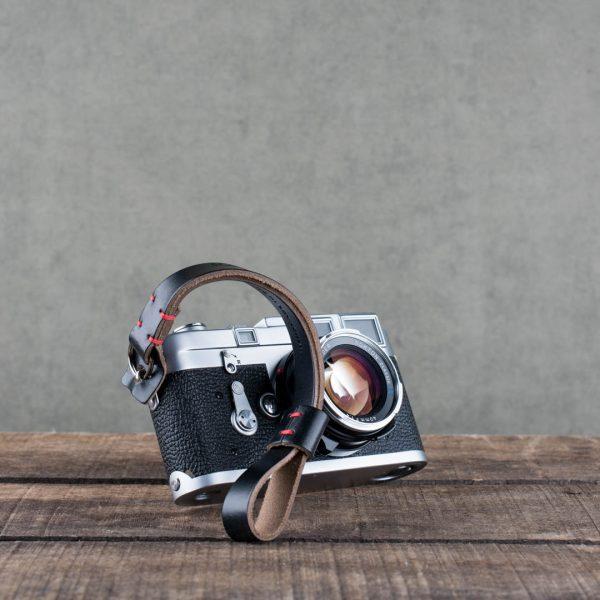 oxford-black-stitched - Hawkesmill-Black-Oxford-Stiched-Leather-Camera-Wrist-Strap-For-Nikon-Leica-Sony-Fujifilm