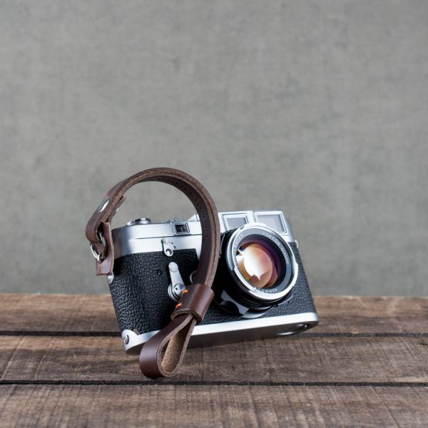 oxford-brown-riveted - Hawkesmill-Brown-Oxford-Leather-Camera-Wrist-Strap-For-Nikon-Leica-Sony-Fujifilm