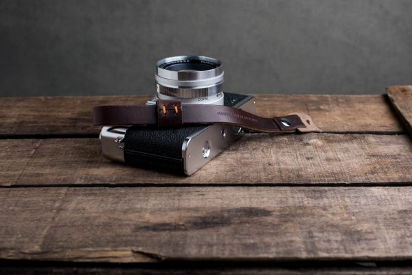 oxford-brown-riveted - Hawkesmill-Oxford-Brown-Leather-Camera-Strap-Nikon-Yashica-Electro-1