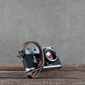 oxford-brown-stitched - Hawkesmill-Brown-Oxford-Stiched-Leather-Camera-Wrist-Strap-For-Nikon-Leica-Sony-Fujifilm