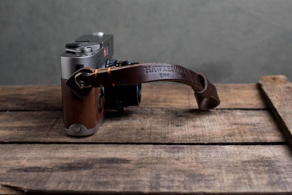 oxford-brown-stitched - Hawkesmill-Oxford-Leather-Camera-Wrist-Strap-Brown-Stitched-Leica-M6-1