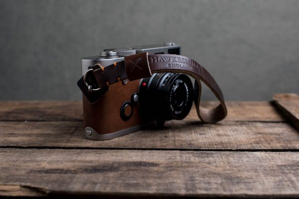 oxford-brown-stitched - Hawkesmill-Oxford-Leather-Camera-Wrist-Strap-Brown-Stitched-Leica-M6-2