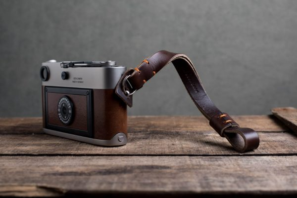 oxford-brown-stitched - Hawkesmill-Oxford-Leather-Camera-Wrist-Strap-Brown-Stitched-Leica-M6-3