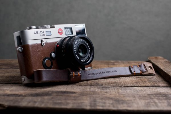 oxford-brown-stitched - Hawkesmill-Oxford-Leather-Camera-Wrist-Strap-Brown-Stitched-Leica-M6-5